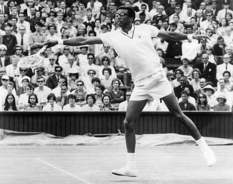 Arthur Ashe (1943-1993) in 1968 in ParisSTAFF/AFP/Getty Images