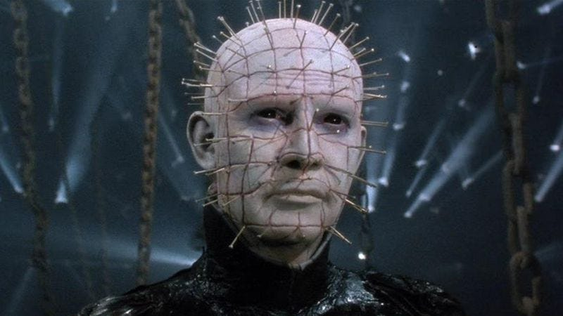 Illustration for article titled Watching all 9 Hellraiser movies is an exercise in masochism