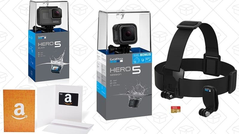 GoPro HERO5 Session Holiday Bundle | $249 | AmazonGoPro HERO5 Black with $50 Gift Card | $349 | Amazon