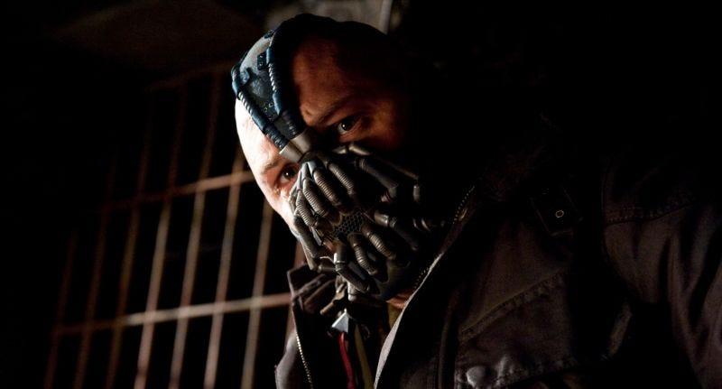 Tom Hardy como Bane de El caballero oscuro: la leyenda renace. Imagen: Warner Bros