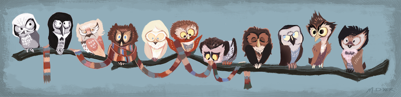 "Illustration for article titled ""Doctor Hoo"" gives you all 11 Doctors, if they were owls"