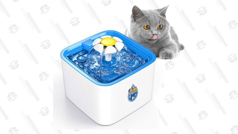 DELOMO Pet Water Fountain | $17 | Amazon | Promo code G89HNOM4