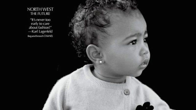 Illustration for article titled Famous Infant North West Finally Makes Her Modeling Debut