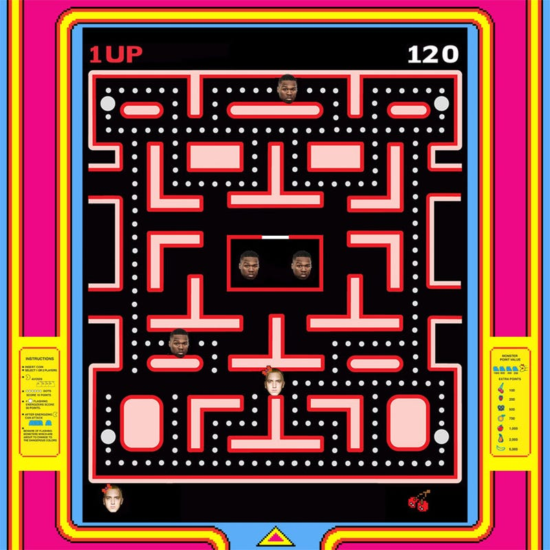 Illustration for article titled 50 Cent: Eminem Cheats At Pac-Man