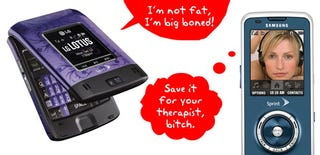 Illustration for article titled Sprint's LG Lotus and Samsung HighNote: Fat Flip vs. Slim Slider