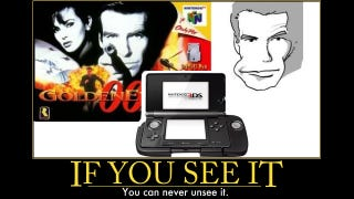 Illustration for article titled Separated at Birth? The 3DS' New Gimmick and James Bond's Weird Face