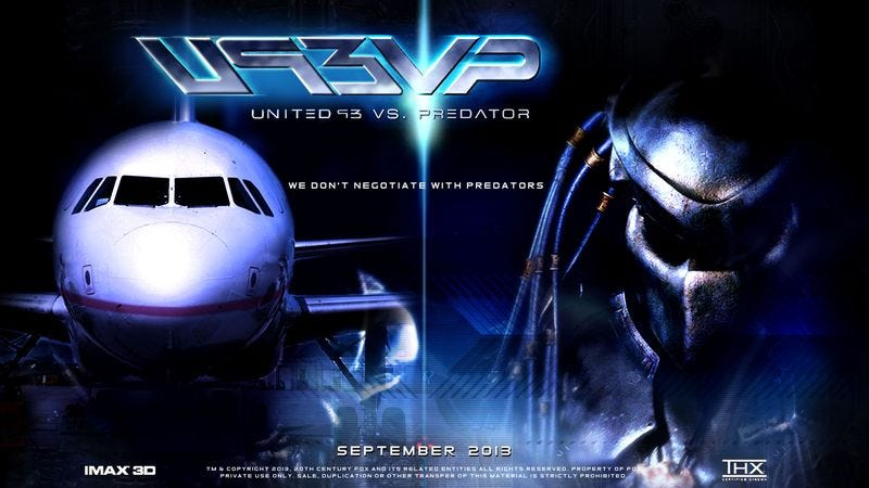 Illustration for article titled 20th Century Fox Green-Lights 'United 93 vs. Predator'