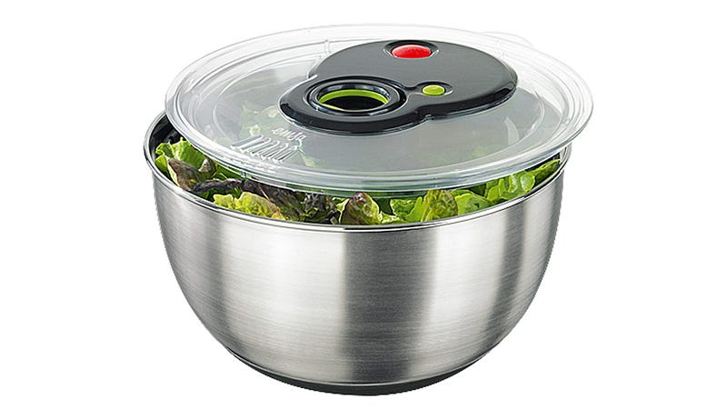Illustration for article titled A Salad Spinner With a Turbo Button—Who Wants To Wait For Salad?