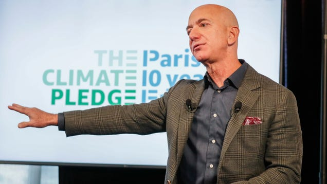 Amazon Showcases Fossil Fuel Ties the Same Day Climate Pledge Arena Sign Unveiled
