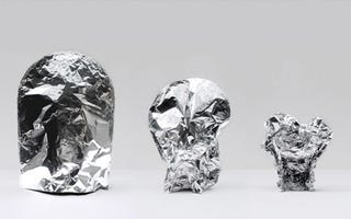 Illustration for article titled Aluminum Foil Chair Clings To You Like Foil On Day-Old Leftovers