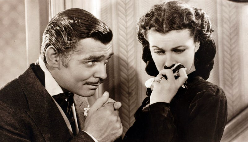 Clark Gable and Vivien Leigh in Gone With The Wind. (Photo: Popperfoto/Getty Images)