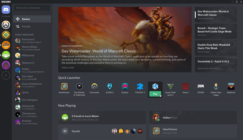 Illustration for article titled Discord's New Games Tab Is A Lot Like Steam