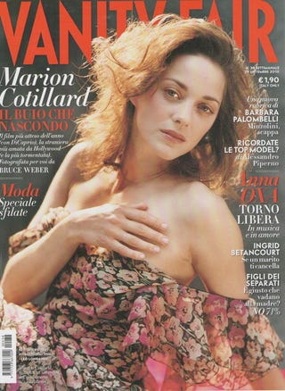 Illustration for article titled Unretouched Marion Cotillard Graces Cover Of Italian VF