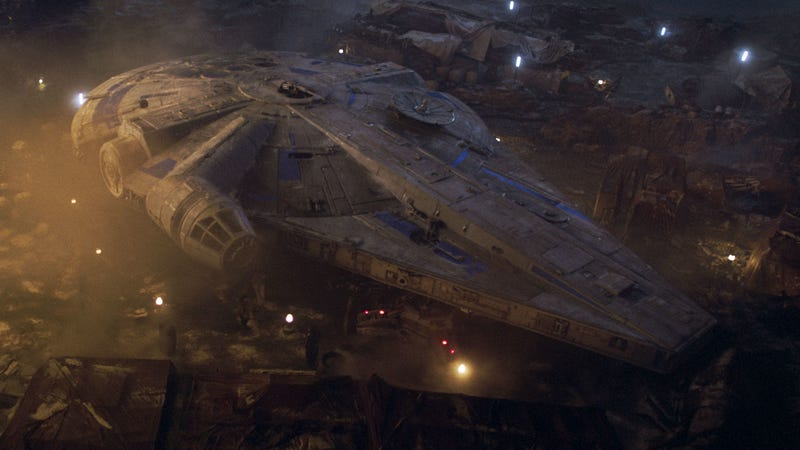 The newish Millennium Falcon in Solo: A Star Wars Story.