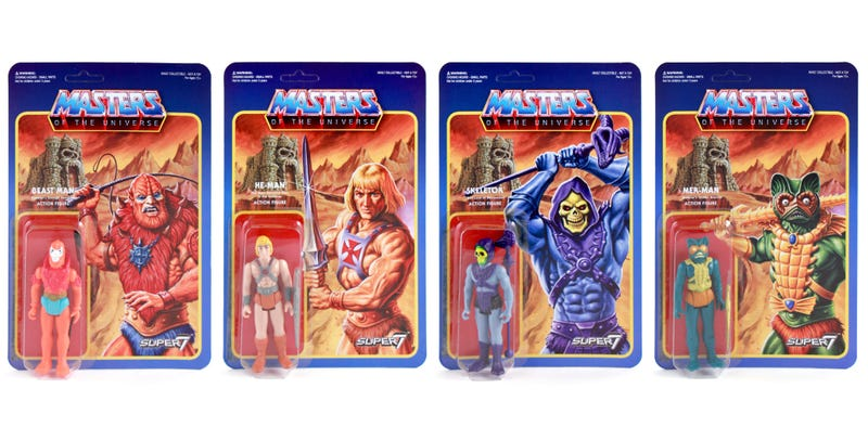 Illustration for article titled The Box Art Alone Makes These Retro Masters of the Universe Figures Worthy of Your Lust