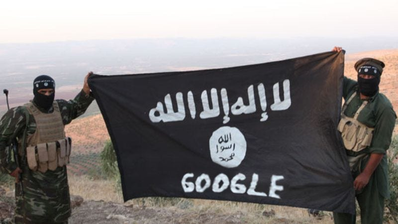 Illustration for article titled Latest Attack: ISIS Just Changed Its Name To 'Google'