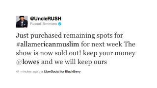 Illustration for article titled Russell Simmons Purchases Remaining Commercial Spots For TLC's 'All-American Muslim'