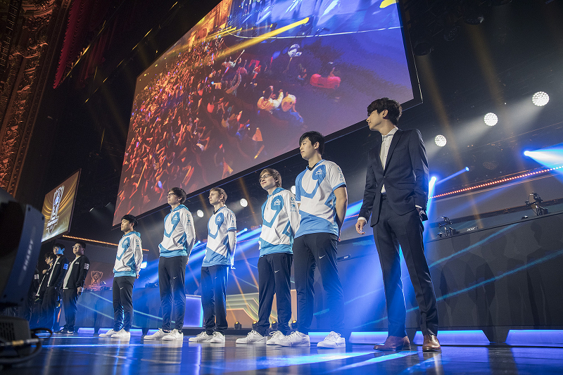 Cloud9 at the 2016 World Championship Quarterfinals, via Riot.