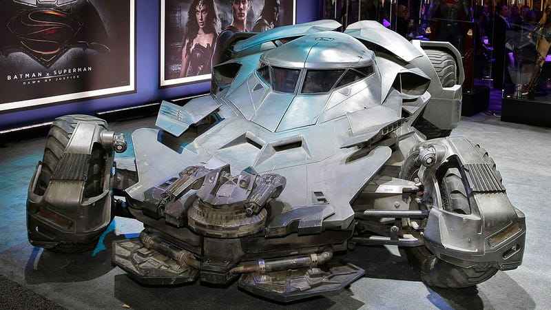 Illustration for article titled The Badass Batman v Superman Batmobile Has Officially Been Revealed