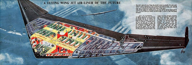Illustration for article titled Northrop Once Built Planes That Were Just Giant Wings