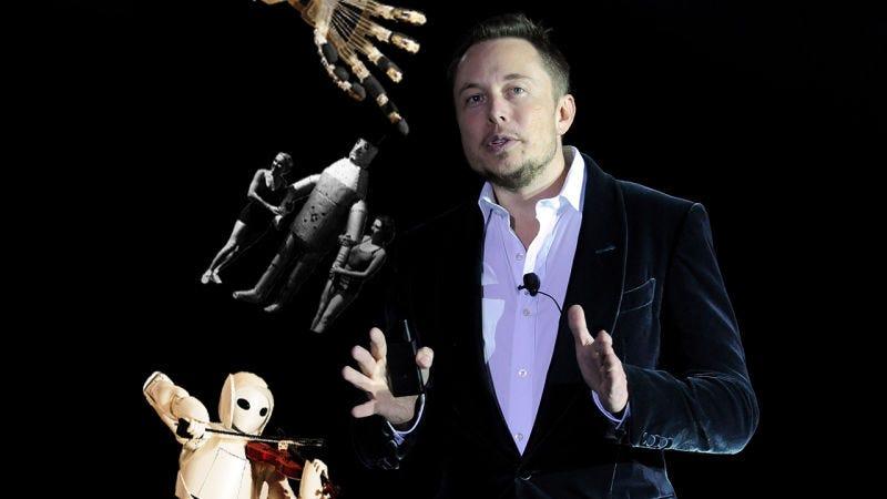 Illustration for article titled Elon Musk cree que la renta básica universal será necesaria cuando los robots nos quiten el trabajo