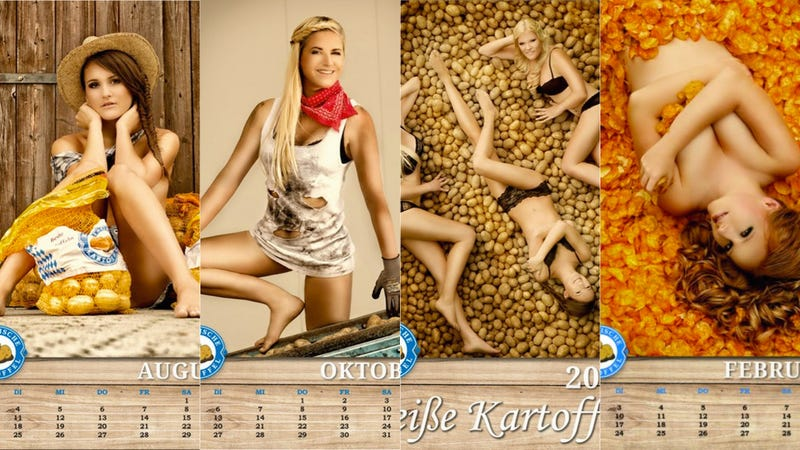 Illustration for article titled Why Wasn't I Called to Model for the Bavarian2015Hot Potato Calendar