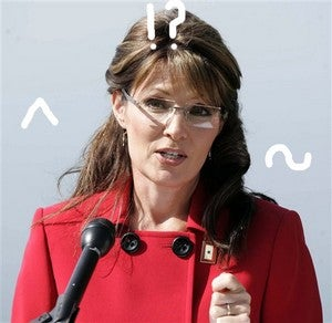 Illustration for article titled Palin's Soliloquy: A Textual Analysis Of Sarah's Resignation Speech