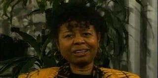 Poet Jayne Cortez in 1997 (UCSD)