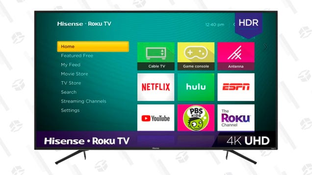 Upgrade to a 55  Hisense 4K Roku TV For Just $230