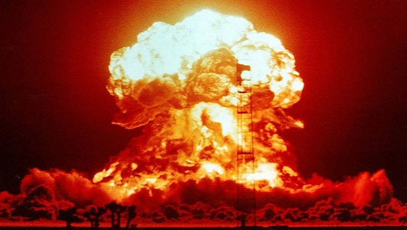 Illustration for article titled Check out this picture of a building just before a nuclear bomb hits