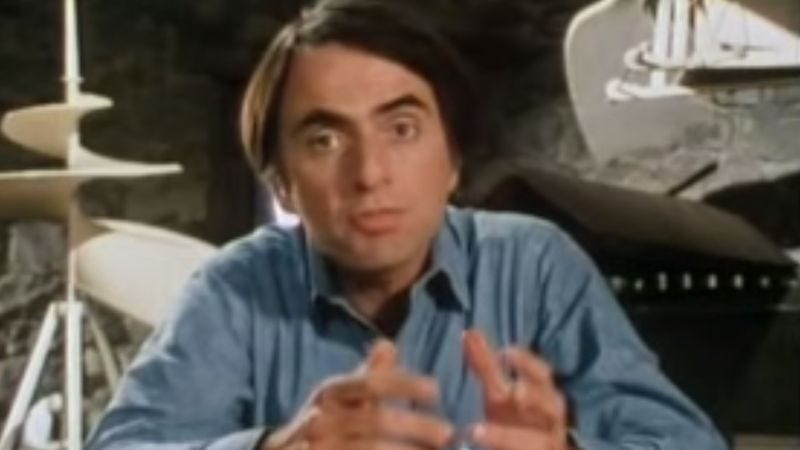 "Illustration for article titled Carl Sagan did say ""billions and billions"" a lot on Cosmos, video proves"