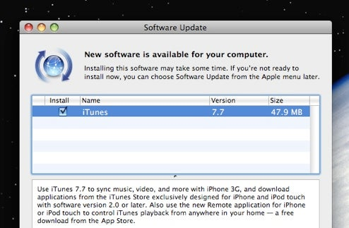 iTunes 7 7 Out on Software Update