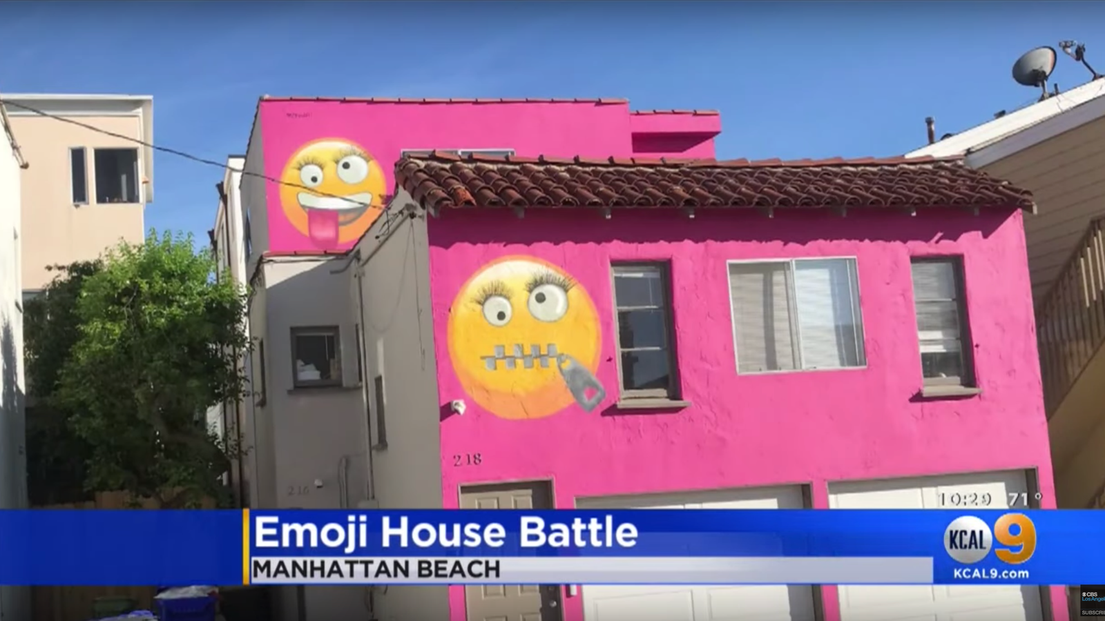 Woman Paints Giant Emojis on Her House—and Neighbors Say
