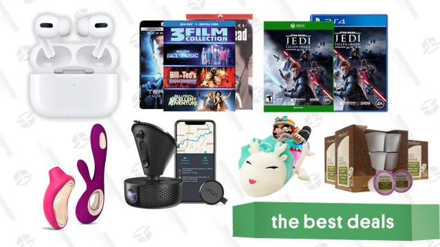 Monday s Best Deals: AirPods Pro, Buy 2 Get 1 Free Games and Movies, LELO V-Day Sale, Giant Dragon Plush, Vava Dash Cam, Star Wars Games, Coffee Pods, and More