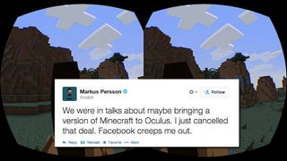 Illustration for article titled Notch Says He's Canceled Oculus Rift Minecraft Because Of Facebook