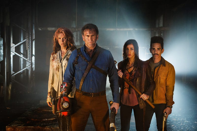 Illustration for article titled Team Ash vs Evil Dead Looks Ready to Kick Deadite Ass in This New Season Two Image