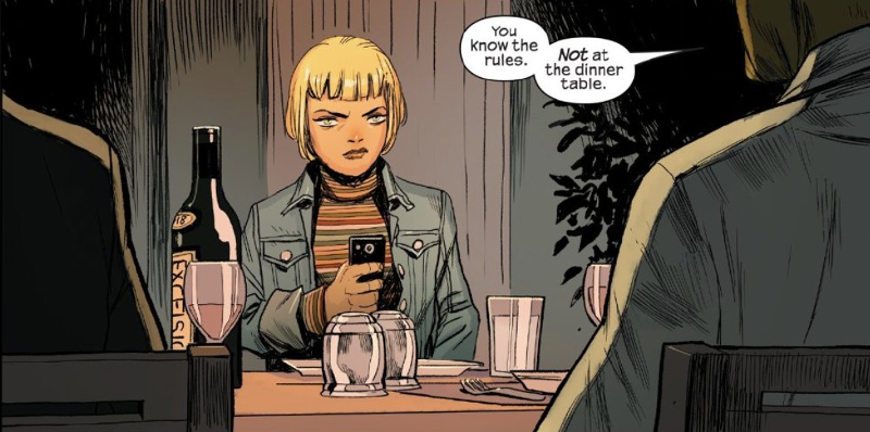 Hint: it's not phones at the dinner table that is a problem for Skrulls.