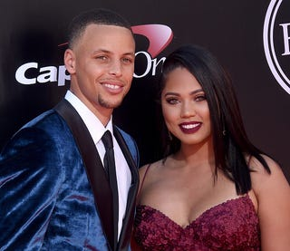 NBA player Stephen Curry and wife Ayesha Curry arrive at The 2016 ESPYS at Microsoft Theater on July 13, 2016 in Los Angeles, California.