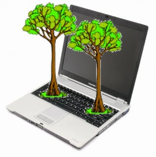 Illustration for article titled Toshiba Helps Mask Your Guilt By Planting Trees