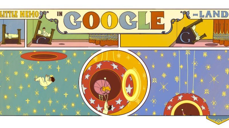 Illustration for article titled Google celebrates Winsor McCay with ridiculously elaborate interactive Doodle