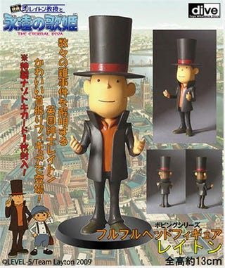 Illustration for article titled Stick Professor Layton On Your Shelf