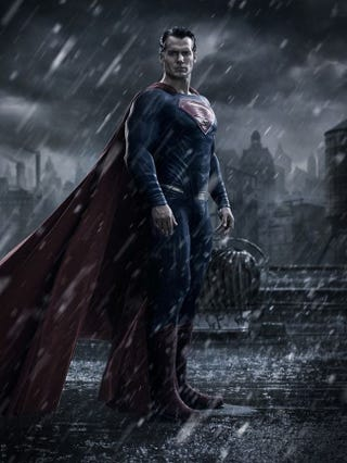 Illustration for article titled Superman Does Not Look Happy In His First Batman V. Superman Pic