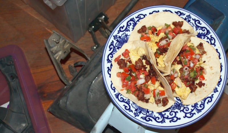 Illustration for article titled How To Make Breakfast Tacos, The Best Track Day Food Ever
