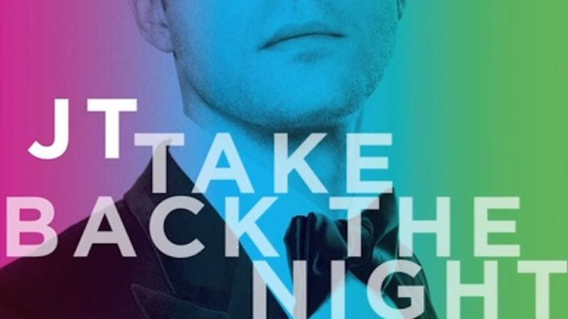 Illustration for article titled Take Back The Night organization not super stoked about Justin Timberlake's new single