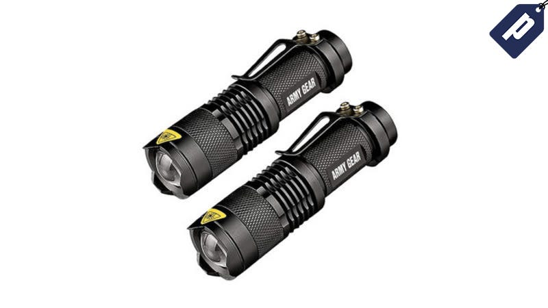 Illustration for article titled Save 80% On A Two-Pack of UltraBright 500-Lumen Tactical Flashlights ($13)