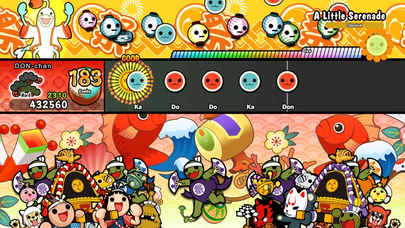 Illustration for article titled Both Switch And PS4 Versions Of Taiko No Tatsujin Are Fun In Different Ways