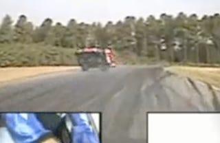 Illustration for article titled VIDEO: Shelby Cobra Flips At VIR
