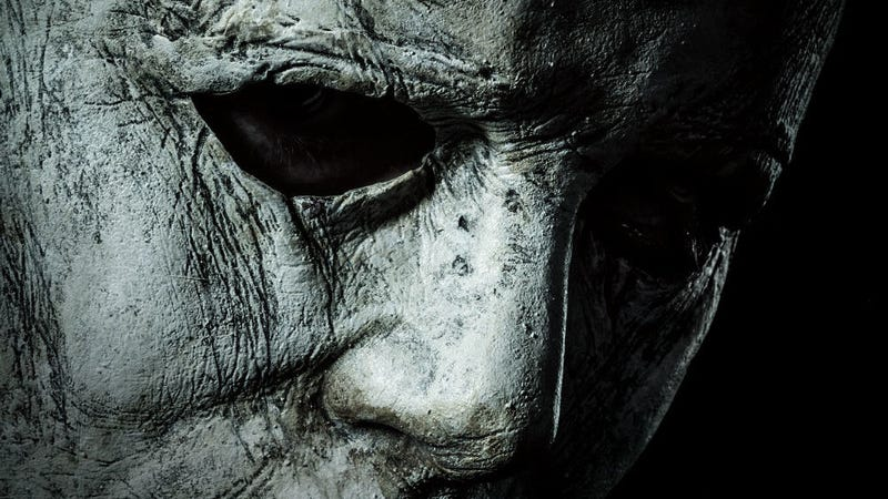 A crop of the new poster for Halloween. Michael's new mask has seen better days.
