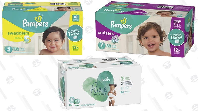$4 off Select Pampers Diapers | Amazon | Discount at checkout. Extra savings with Subscribe & Save