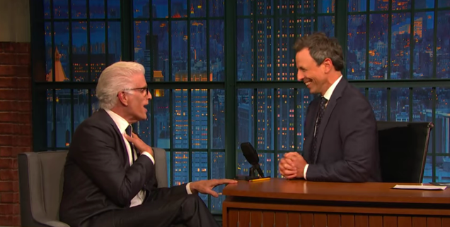 On Late Night, Ted Danson talks The Good Place's Cheers